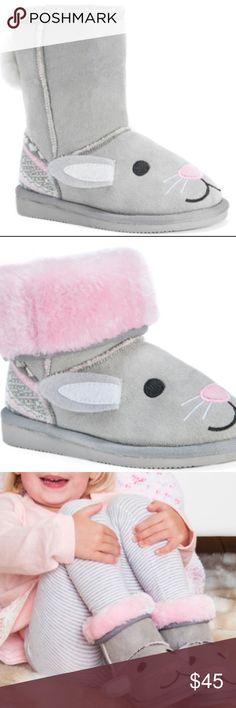 Muk Luks Bunny Boots Vegan These amazing warm boots are completely cruelty-free and adorable! Can be worn up or folded down for fluffy pink contrast. Your little one will love getting dressed with these as the finale! Brand new with retail tags and manufacturer packaging. Ships same day if ordered by 10:00 CST. Combine 3 items and save 15% Muk Luks Shoes Boots