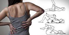 Dile adiós al dolor de espalda en solo unos minutos con estos 7 ejercicios Fitness Exercise - Şifalı Kür Tarifleri - Mücize Kür Tarifi Sciatica Exercises, Hip Stretches, Back Pain Exercises, Perfect Posture, Sedentary Lifestyle, Gym Workout For Beginners, Move Your Body, Back Pain Relief, Pilates Workout