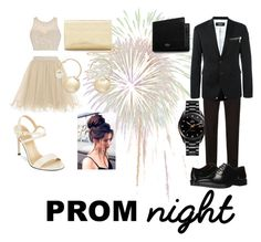 """""""Prom Dates"""" by moonstar843 on Polyvore featuring Rado, Stuart Weitzman, La Regale, Witchery, Dolce&Gabbana, Dsquared2, Massimo Matteo and Mulberry"""