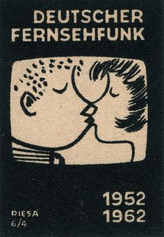 https://flic.kr/p/5qfw9J | east german matchbox label | Wikipedia page on Broadcasting in East Germany including a section on Deutscher Fernsehfunk.
