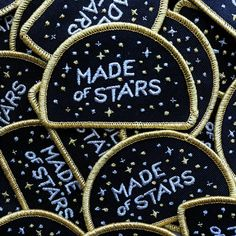 Made of Stars Carl Sagan Cosmos Embroidered Patch by SpaceCommand Narnia, Grunge, Pin And Patches, Jacket Patches, Kawaii, Ravenclaw, Hufflepuff Pride, Mellow Yellow, Up Girl