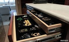Dressing room drawer detail