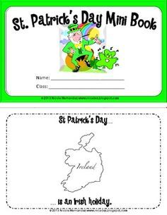 $ St Patrick's Day Mini Book