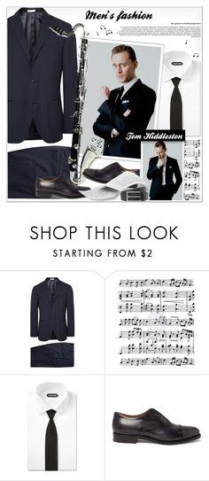 """Men's Fashion - Tom Hiddleston"" by alves-nogueira ❤ liked on Polyvore featuring Boglioli, Music Notes, Prada, ESPRIT, men's fashion and menswear"