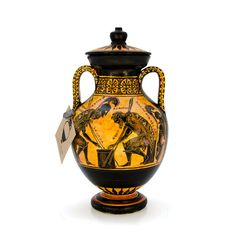 Exekias' amphora - dadart Greek Pottery, Black Figure, Corinthian, Mythical Creatures, 18th Century, Period, Two By Two, Objects, Vase