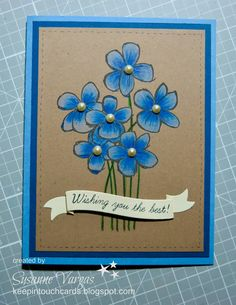 Keep in Touch Cards: Flowers and Snowflake