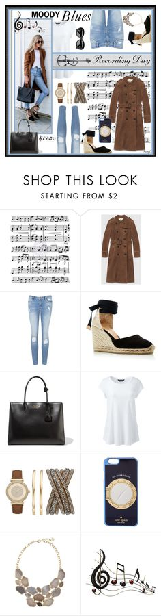 """""""MOODY BLUES"""" by polyvore-suzyq ❤ liked on Polyvore featuring Music Notes, Gucci, AllSaints, Castañer, Prada, Lands' End, Studio Time, Kate Spade, Benzara and Acne Studios"""