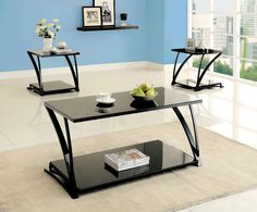 COFFEE TABLE  NO P2 CONCERN Schwarze Couchtisch Sets, Schlafzimmermöbel,  Metallprojekt, Stehtische,