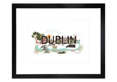 Irish Design and Illustration Store by Designer Helen Magee from Delgany, County Wicklow. Shop here for wall art and gifts from our beautiful collections of art prints, greetings cards, kitchen textiles and notepads. Poster Prints, Framed Prints, Art Prints, City Print, Irish Design, Dublin City, Watercolor Paper, Greeting Cards, Textiles
