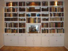 Biblioteca modelo machimbre baja consulte por promociones - Biblioteca madera blanca ...