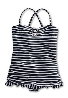 nautical toddler swimsuit