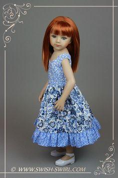 Frosty morning dress for Maru and Friends dolls by Swish&Swirl #maruandfriends #swishandswirl