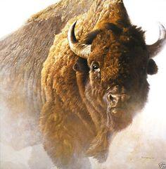 Chief Robert Bateman Buffalo Bison Wildlife Art Print Poster 26x36 | eBay