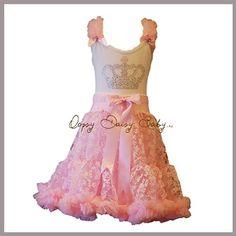 Oopsy Daisy Baby Girl Pink Crown Bling Pettiskirt Dress. Dress-up, Princess Ballet Tutu Dress. Size 8. $95.00