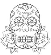 Sugar Skull coloring page from Day of the Dead category