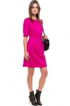 Simple - Sukienka fuksja mini