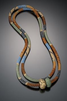 Bead Crochet Necklace, Lynne Sausele.  Autumn Spectrum