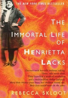 Wow!  A fascinating read!  Before Henrietta dies in 1951, the doctors take some of her cells to use for research.  This is the story of Henrietta, her cells (HeLa) which end up being used to research all kinds of diseases & even go to the moon, and the author's search for this story.  Sad to read in parts.  Couldn't put it down.