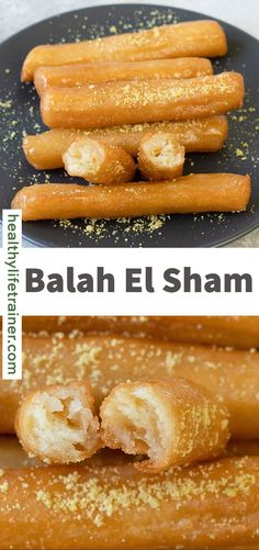 Balah El Sham is a delicious fried choux pastry that is soaked in heavy sugar syrup. They are super crunchy on the outside and soft and fluffy on the inside. These Arabic Mini Churros are made with butter, flour, eggs, and vanilla. Balah El Sham is a versatile dessert as it can be stuffed with different types of fillings like whipped cream, chocolate or can simply be sprinkled with minced nuts. #Balahelsham #Minichurros #Friedchouxpastry