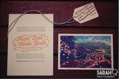 Love the fonts, colors, pretty much everything about this invitation set #1