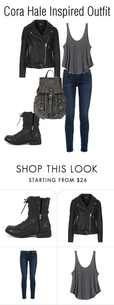 """""""Cora Hale Inspired Outfit"""" by lexi-pierce123 ❤ liked on Polyvore featuring Bamboo, Topshop, rag & bone and RVCA"""