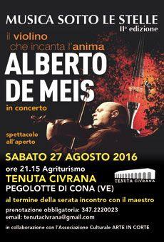 Alberto De Meis - Il violino che incanta l'anima . Tutti i tuoi eventi su…