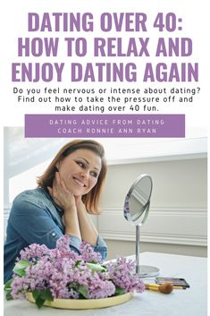 Wish you knew how to not take dating so seriously? Discover several tips to help you relax and enjoy the process more so you find love with less drama. Dating After 40, Dating Over 50, Dating Again, Relationship Over, Over 40, Dating Coach, Feminine Energy, Finding Love, Romantic Love