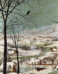 1565 Pieter Bruegel the Elder – Hunters in the Snow, Winter, Detail landscape. Seen in the heart-stopping levitation scene in Solaris. Winter Landscape, Landscape Art, Landscape Paintings, Landscapes, Painting Snow, Painting Prints, Art Prints, Renaissance Kunst, Renaissance Paintings