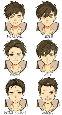 hair references - Imgur Drawing Male Hair, Anime Face Drawing, Drawing Tips, Drawing Faces, Man Face Drawing, Drawing Ideas, Face Drawing Tutorials, Anime To Draw, How To Draw Manga