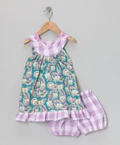 Lavender Lei Dress & Diaper Cover - Infant