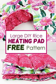 Sewing To Sell, Free Sewing, Sewing Tips, Sewing Hacks, Sewing Ideas, Sewing Crafts, Sewing Patterns, Homemade Heating Pad, Diy Heating Pad