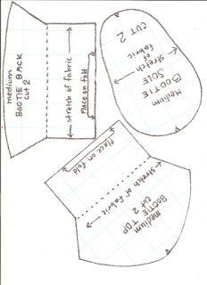 Simplesmente Artesanato: Sapatinho Rosa de Lã - modelo e molde