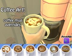 6 coffee mug overrides at Annachibi's Sims • Sims 4 Updates