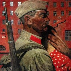 We tend to forget how horrific World War II was for the Soviet Union. Here's a fascinating collection of Soviet War paintings. Russian Painting, Russian Art, Figure Painting, Painting Art, Soviet Art, Soviet Union, Social Realism, Academic Art, Dieselpunk