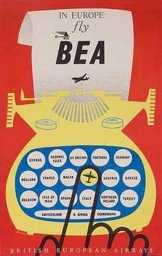 British European Airways John Castle 1955