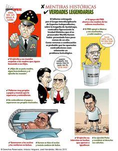 El informe entregado por el GIEI sobre la tragedia de Ayotzinapa, contradice ligeramente la Verdad Histórica que el exprocurador Murillo Karam había presentado