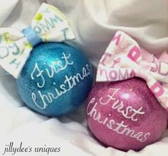 A personal favorite from my Etsy shop https://www.etsy.com/listing/260223562/babys-first-christmas-ornament