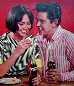 Coca Cola. Philippine print ad. Circa 1960's. Vintage Labels, Vintage Ads, Filipino Fashion, Filipino Culture, Old Advertisements, My Childhood Memories, Filipina, Pinoy, Old Skool