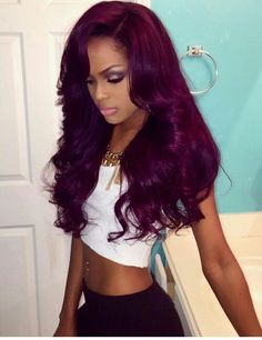 "Affordable luxury 100% virgin hair starting at $55/bundle in the USA. Achieve this look with our luxury line of Brazilian Body Wave hair extensions, available in lengths 12"" - 28"". www.vipextensionbar.com email info@vipextensionbar.com"