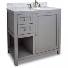Accanto Contemporary 30 Inch Grey Finish Bathroom Vanity Marble Custom Bathroom Vanity 30 Inch Decorating Inspiration