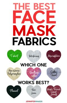 Best Fabrics for Face Masks - Non-Woven Polypropylene Tightly Woven Cotton T-Shirt Knit Flannel Interfacing High Thread Count Cottons and Easy Face Masks, Best Face Mask, Homemade Face Masks, Diy Face Mask, Fabric Structure, Best Masks, Linen Sheets, Maker, Diy Mask