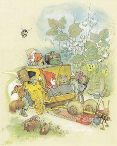 Illustration by Fritz Baumgarten. Illustration Noel, Children's Book Illustration, Art Magique, Baumgarten, Elves And Fairies, All Nature, Forest Friends, Woodland Creatures, Fairy Art