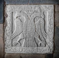 Double-headed eagle Paleologos,Mystras,Greece,Unesco.