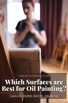 You will have a variety of surfaces to choose from when oil painting. Choose a classic cotton canvas for the price and ease of use, try out smooth wooden panel to paint in fine detail, or explore some other options, like metal. Learn which surfaces are best for oil painting, their characteristics and how the surface you choose can affect the finished outcome of the painting. #oilpainting #oilpaintingtutorial #oilpaintingbeginner #howtooilpaint #oilpaintpaper #oilpaintwood #oilpaintcanvas