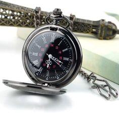 2015 Hot Fashion Steampunk Retro Vintage Chain Quartz Pocket Watch Roman Pattern