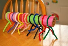 caterpillar craft! - so cute and looks like it would be easy for a preschooler :)