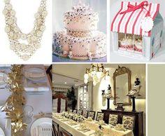 French gold inspired bridal shower...ooh la la!