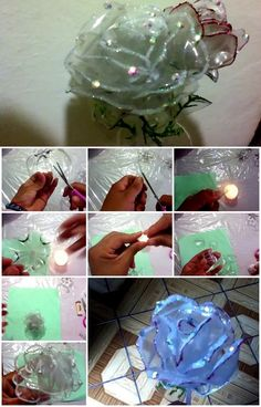How to Make Plastic Bottle Rose | http://UsefulDIY.com