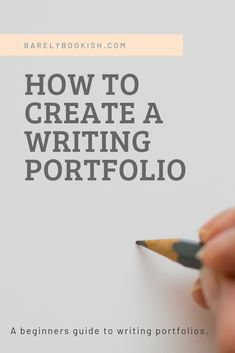 Develop Portfolio for Copywriting Services