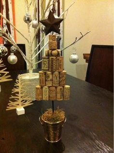 Wine cork Xmas tree